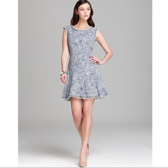 4edd89927abf Rebecca Taylor Frayed Tweed Blue Dress Size 0. M_5c1420581b329474703e4378